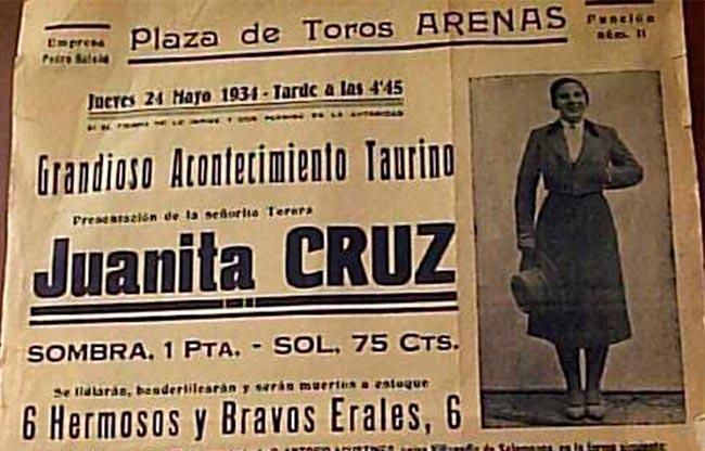 Juanita Cruz torera
