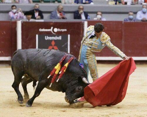 Rubén Pinar con toros de Victorino en Burgos
